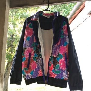 Vintage* 80's Floral Purple Jacket/Windbreaker